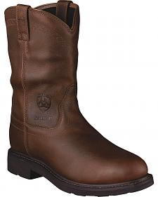 Ariat Sierra Waterproof Pull-On Work Boots - Steel Toe