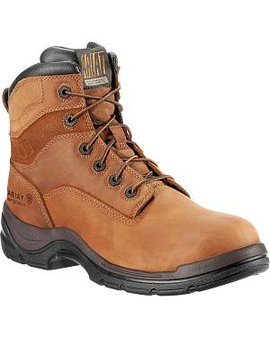 "Ariat Flex Pro Waterproof 6"" Lace-Up Work Boots - Composition Toe"