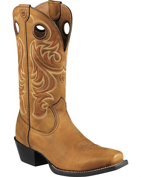 Ariat 4LR Embroidered Cowboy Boots - Square Toe