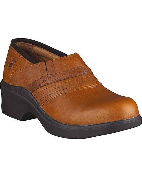 Ariat Tan Clogs - Steel Toe