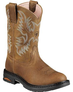Ariat Tracey Pull-On Work Boots - Round Toe