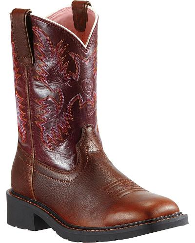 Ariat Krista Pull-On Work Boots Steel Toe Western & Country 10009494
