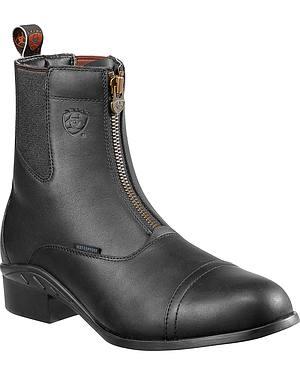 Ariat Heritage Waterproof Paddock Zip-Up Boots - Round Toe