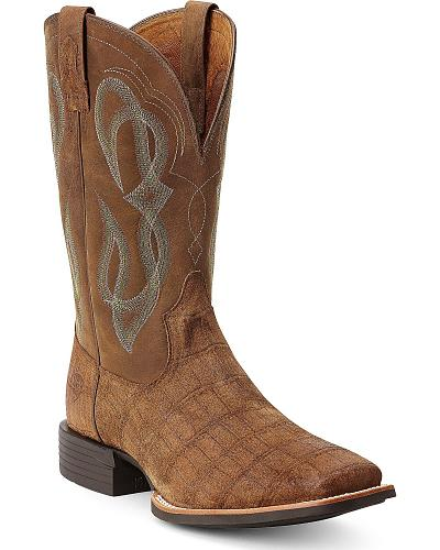 Ariat Cobalt Quantum Brander Gator Print Cowboy Boots Square Toe Western & Country 10012758