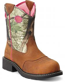 Ariat Fatbaby Camo Cowgirl Boots - Steel Toe