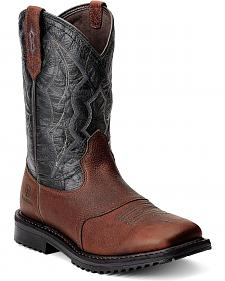 Ariat RigTek Waterproof Work Boots - Square Toe