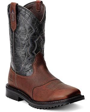 Ariat RigTek Waterproof Work Boots - Square Toe