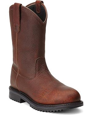 Ariat RigTek Waterproof Pull-On Work Boots - Composition Toe