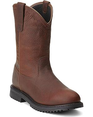 Ariat RigTek Waterproof Pull-On Work Boots - Round Toe