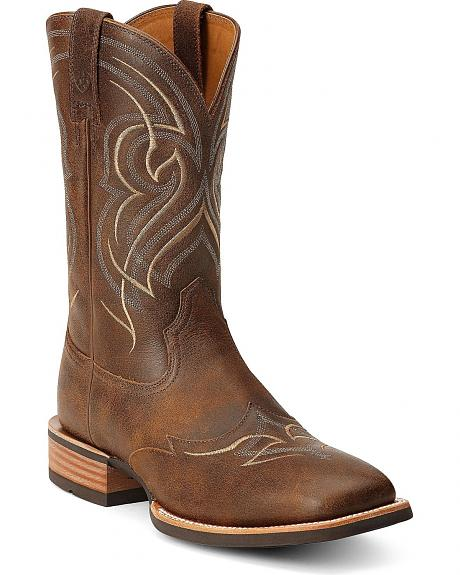 Ariat Quickdraw Wingtip Cowboy Boots - Square Toe