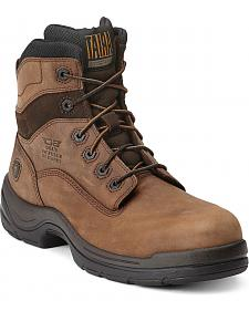 "Ariat Flex Pro 6"" Lace-Up Distressed Work Boots - Composition Toe"