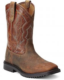 Ariat RigTek Pull-On Work Boots - Square Toe