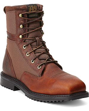 "Ariat RigTek 8"" Lace-Up Work Boots - Safety Toe"