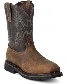 Ariat Sierra Pull-On Work Boots - Steel Toe