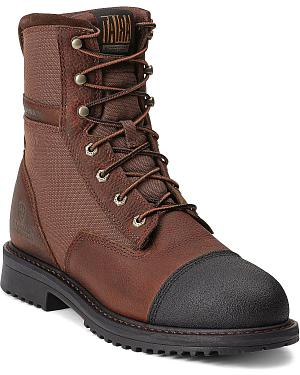 "Ariat RigTek Waterproof 8"" Lace-Up Work Boots - Composition Toe"