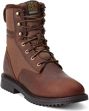 "Ariat RigTek Waterproof 8"" Lace-Up Work Boots - Round Toe"