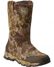 Ariat FPS Kryptek Waterproof & Insulated Pull-On Hunting Boots - Round Toe