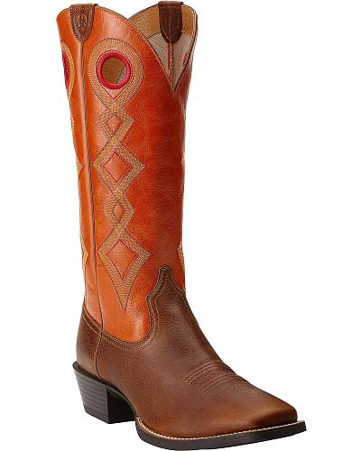 Ariat Sport Buckaroo Cowboy Boots Wide Square Toe Western & Country 10014057