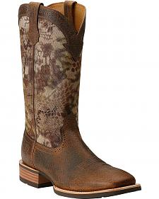 Ariat Quickdraw Nylon Top Cowboy Boots - Square Toe