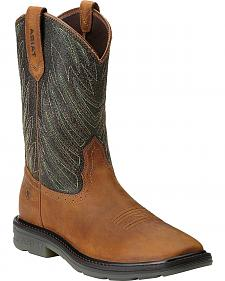Ariat Maverick Pull-On Work Boots - Wide Square Toe