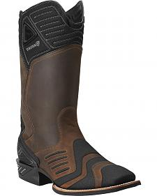 Ariat Catalyst VX Brown Cowboy Boots - Square Toe