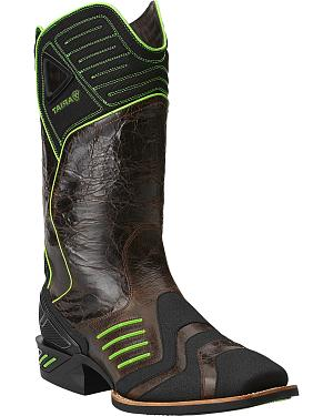 Ariat Catalyst VX Green Cowboy Boots - Square Toe