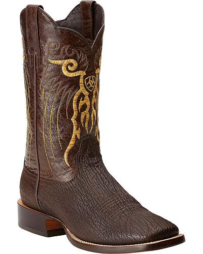 Ariat Shallow Water Sharkskin Cowboy Boots Square Toe Western & Country 10014051
