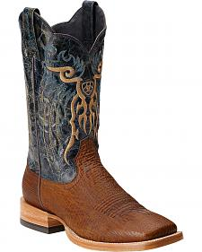 Ariat Shallow Water Sharkskin Cowboy Boots - Square Toe