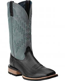Ariat Tycoon Embossed Basketweave Cowboy Boots - Square Toe
