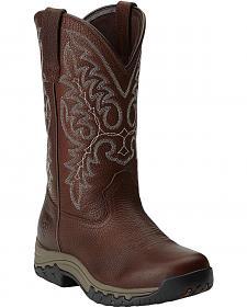 Ariat Women's Western Terrain Oiled Rowdy Cowgirl Boots - Round Toe