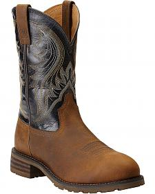Ariat Hybrid Rancher Pull-On Work Boots - Steel Toe