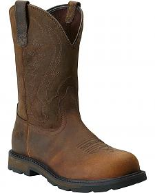 Ariat Groudbreaker Pull-On Work Boots - Steel Toe