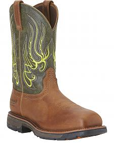 Ariat Men's Workhog Mesteno Waterproof Work Boots -  Composite Toe