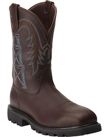 Ariat Men's Wildcatter Flame-Resistant Pull-On Work Boots - Composite Toe