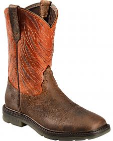 Ariat Men's Maverick Work Boots - Wide Square Toe