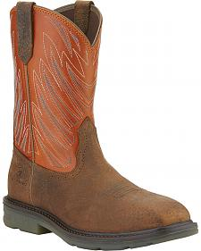 Ariat Maverick Western Work Boots - Wide Square Safety Toe