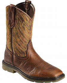 Ariat Maverick Cowboy Work Boots - Square Toe