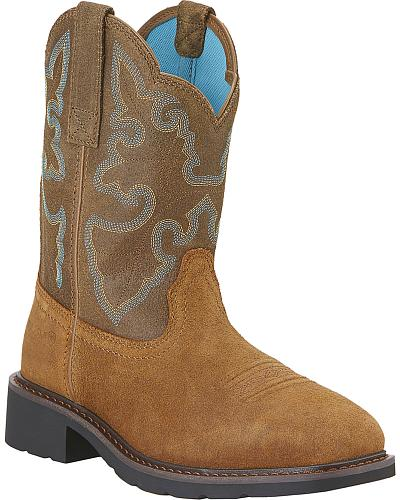Ariat Womens Krista II Pull-On Work Boots Steel Toe Western & Country 10015406