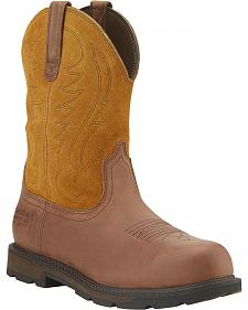 Ariat Waterproof  Groundbreaker Work Boots - Steel Toe