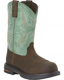 Ariat Waterproof Tracey Pull-On Waterproof Work Boots - Composite Toe