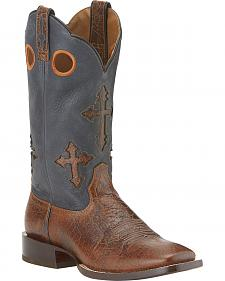 Ariat Ranchero Cowboy Boots - Wide Square Toe