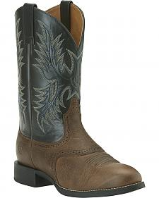 Ariat Heritage Stockman Boots - Round Toe
