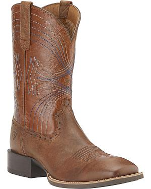 Ariat Sport Cowboy Boots - Wide Square Toe