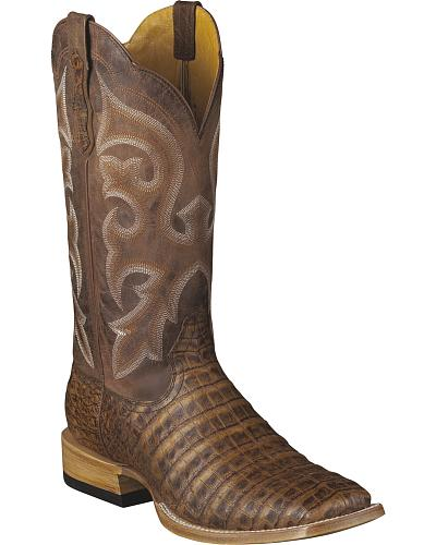 Ariat Mens Latigo Caiman Belly Cowboy Boots Square Toe Western & Country 10007000