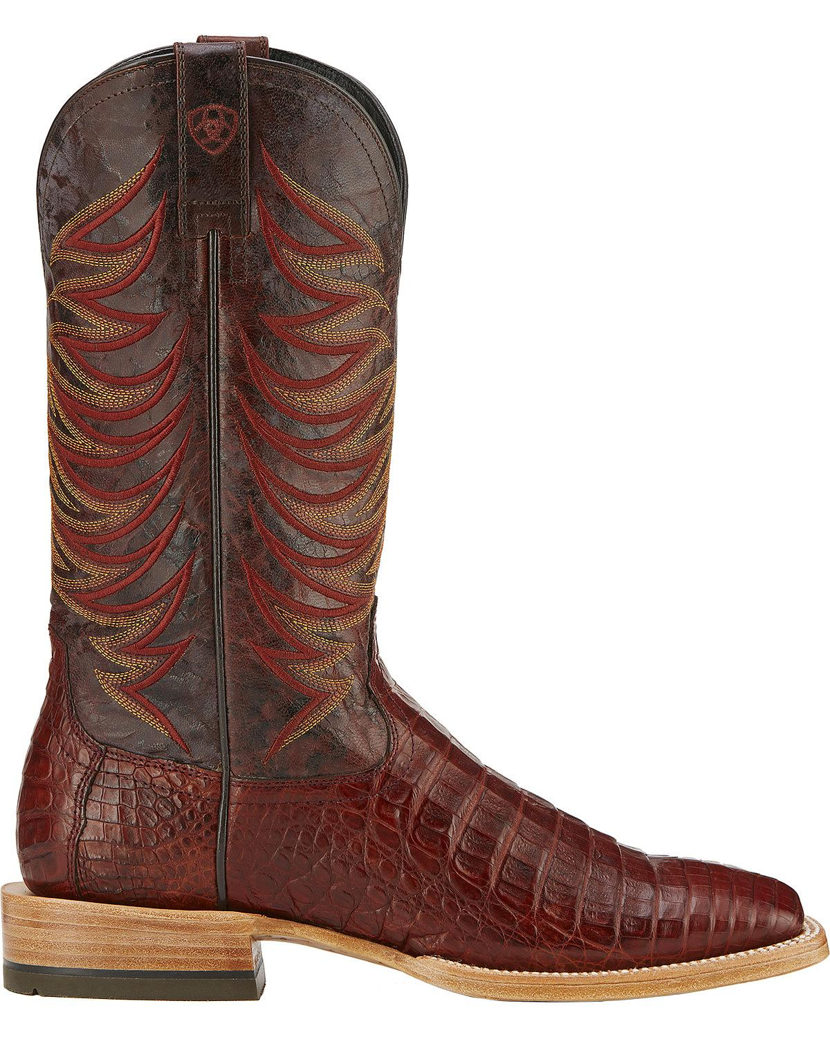 Ariat Men's Fire Catcher Caiman Cowboy Boot Square Toe - Cinnamon