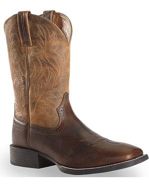 Ariat Sport Western Cowboy Boots - Square Toe