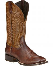 Ariat Hookin Horns Cowboy Boots - Square Toe