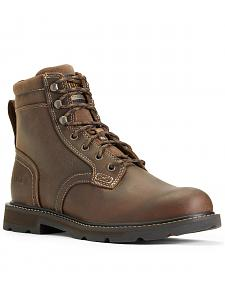 "Ariat Men's Groundbreaker 6"" Lace Up Work Boots - Round Toe"