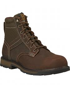 "Ariat Men's 6"" Groundbreaker Waterproof Work Boots - Steel Toe"