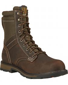"Ariat Men's 8"" Groundbreaker Waterproof Work Boots - Steel Toe"